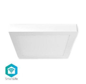 Nedis Wi-Fi Smart Plafondlamp   Vierkant   30 x 30 cm   Warm tot Koel Wit   Full Colour (RGB)   1400 lm   18 W   Slank Design   Aluminium