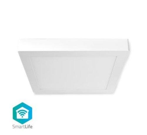 Nedis Wi-Fi Smart Plafondlamp | Vierkant | 30 x 30 cm | Warm tot Koel Wit | Full Colour (RGB) | 1400 lm | 18 W | Slank Design | Aluminium