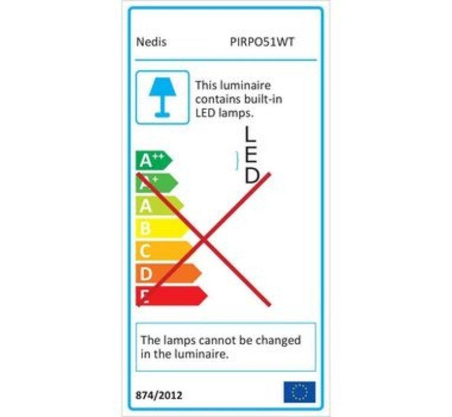 LED Plafondlicht met Sensor en Noodaccu | 16 W | Veiligheidslicht 3 Uur | Voor Buiten - IP54