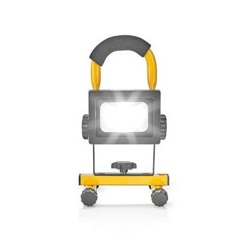 Nedis Mobiele LED-Bouwlamp | 10 W | 700 lm | zwart/geel