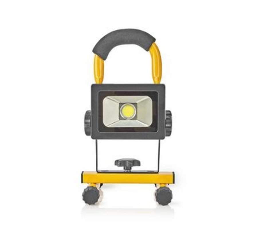Mobiele LED-Bouwlamp | 10 W | 700 lm | zwart/geel