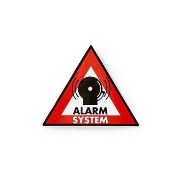 Nedis Waarschuwingssticker | Pictogram alarmsysteem | Set van 5 stuks