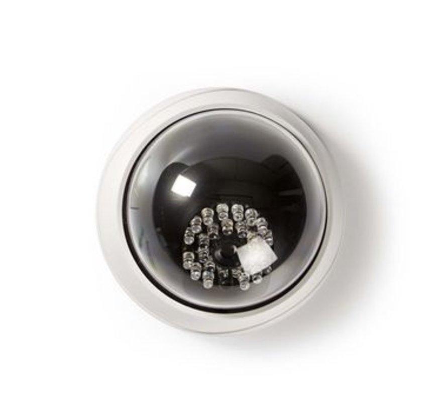 Dummy Beveiligingscamera | Dome | Batterij Gevoed | Voor binnen | Wit