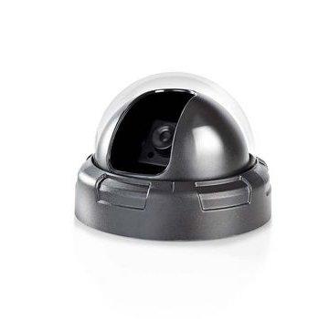 Nedis Dummy Beveiligingscamera   Dome   Batterij Gevoed   Voor binnen   Zwart