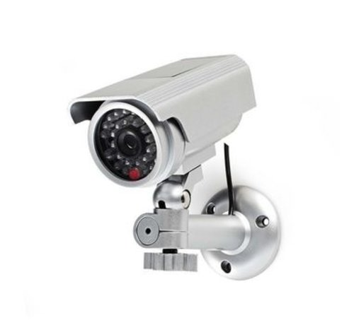 Nedis Dummy beveiligingscamera | Bullet | IP44 | Zilver