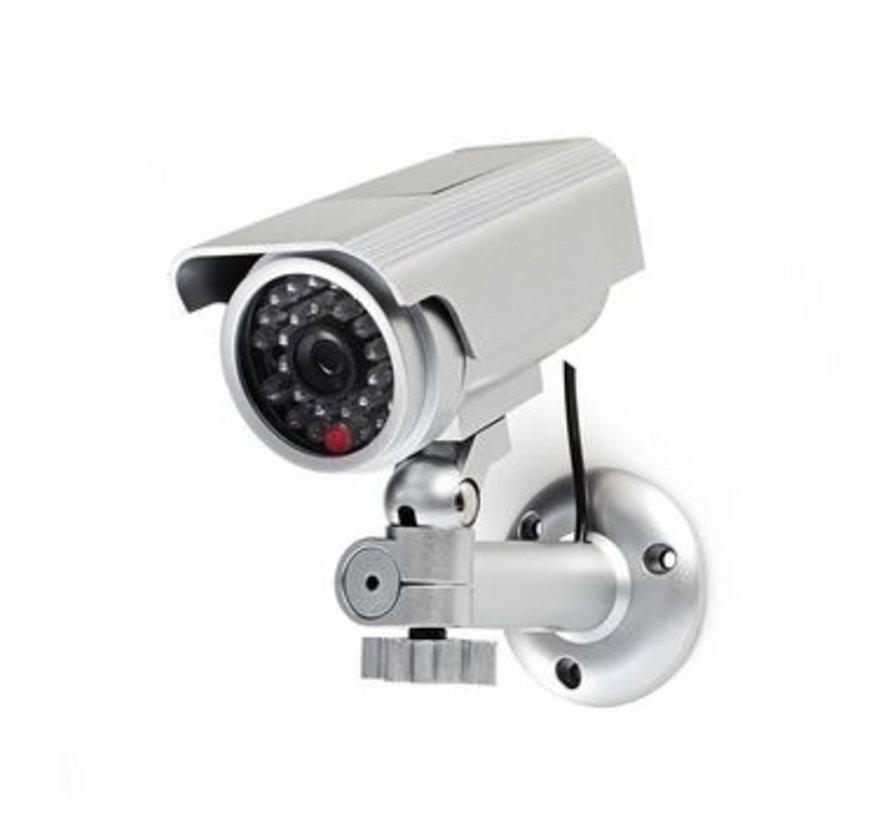 Dummy beveiligingscamera | Bullet | IP44 | Zilver