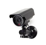 Nedis Dummy Beveiligingscamera | Bullet | IP44 | Batterij Gevoed | Voor buiten | Inclusief muurbeugel | Zwart