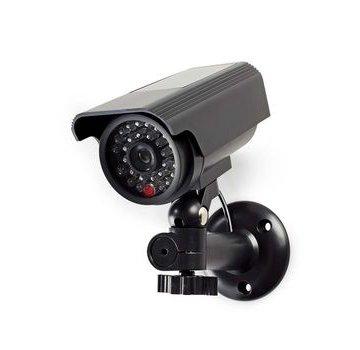 Nedis Dummy Beveiligingscamera   Bullet   IP44   Batterij Gevoed   Voor buiten   Inclusief muurbeugel   Zwart