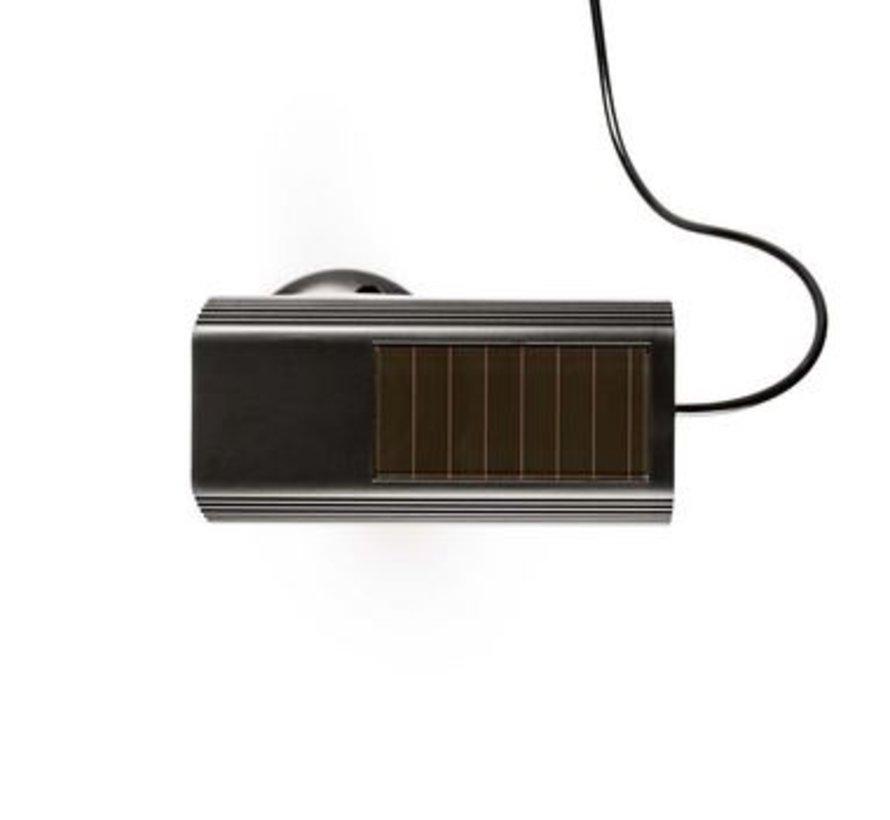 Dummy Beveiligingscamera | Bullet | IP44 | Batterij Gevoed | Voor buiten | Inclusief muurbeugel | Zwart