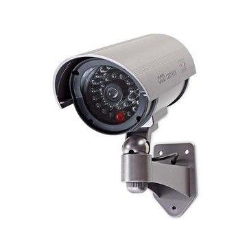 Nedis Dummy Beveiligingscamera   Bullet   IP44   Batterij Gevoed   Voor buiten   Inclusief muurbeugel   Grijs