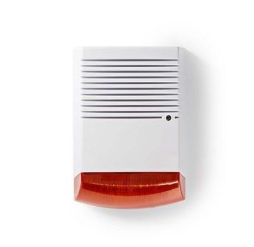 Nedis Dummy beveiligings-sirene | IP44 | Wit / oranje