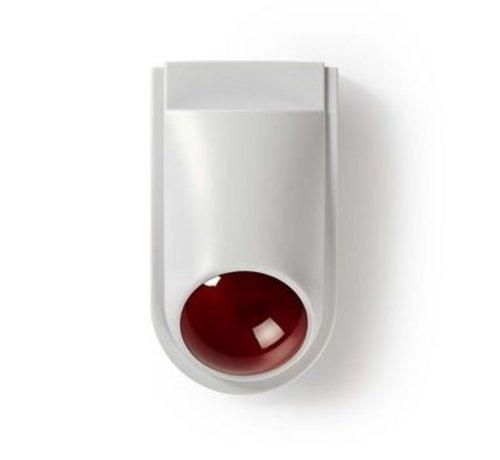 Nedis Dummy beveiligings-sirene   IP44   Wit / rood