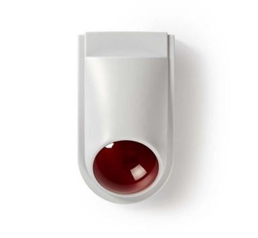 Dummy beveiligings-sirene   IP44   Wit / rood