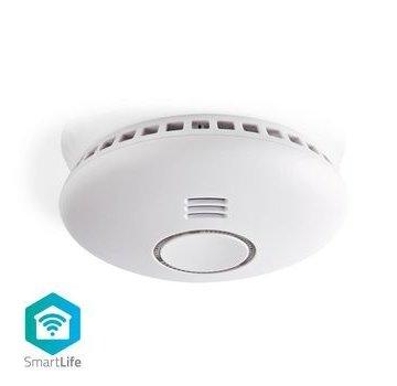 Nedis SmartLife Rookmelder | Wi-Fi | Batterij Gevoed | Levenscyclus sensor: 10 Jaar | EN14604 | Met pauzeknop | Maximale levensduur batterij: 2 Jaar | Android™ & iOS | 85 dB | Wit