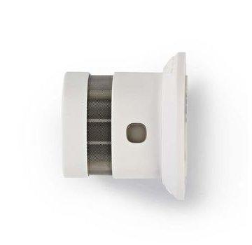 Nedis Rookmelder | Batterij Gevoed | Levenscyclus sensor: 10 Jaar | Meetbereik: 0-3 m | EN14604 | Met pauzeknop | Met testknop | 85 dB | ABS | Wit