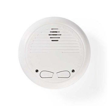 Nedis Rookmelder | Batterij Gevoed | Levenscyclus sensor: 10 Jaar | Meetbereik: 0-3 m | EN14604 | Met testknop | 85 dB | ABS | Wit