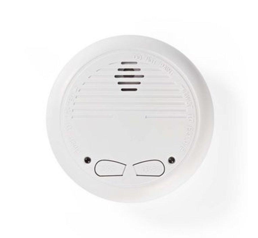 Rookmelder | Batterij Gevoed | Levenscyclus sensor: 10 Jaar | Meetbereik: 0-3 m | EN14604 | Met testknop | 85 dB | ABS | Wit