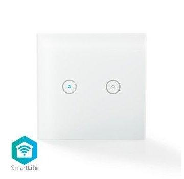 Nedis Wi-Fi smart lichtschakelaar | Dubbel