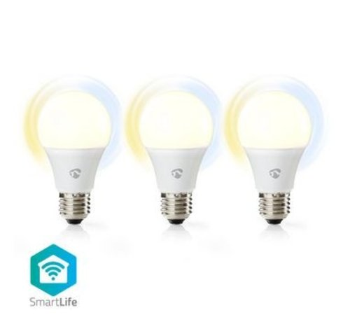 Nedis Wi-Fi smart LED-lampen | Warm- tot Koud-Wit | E27 | 3-Pack