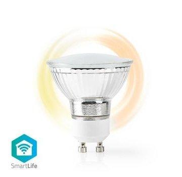 Nedis Wi-Fi Smart LED-Lamp | Warm Wit | GU10 | Dim naar Extra Warm Wit (1800 K)