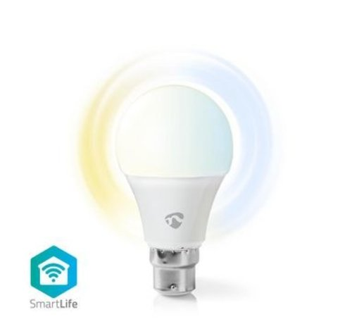 Nedis SmartLife Lamp | B22 | 800 lm | 9 W | Dimbaar Wit / Koud Wit / Warm Wit | 2700 - 6500 K | A+ | Android™ & iOS | Wi-Fi | Diameter: 60 mm | A60