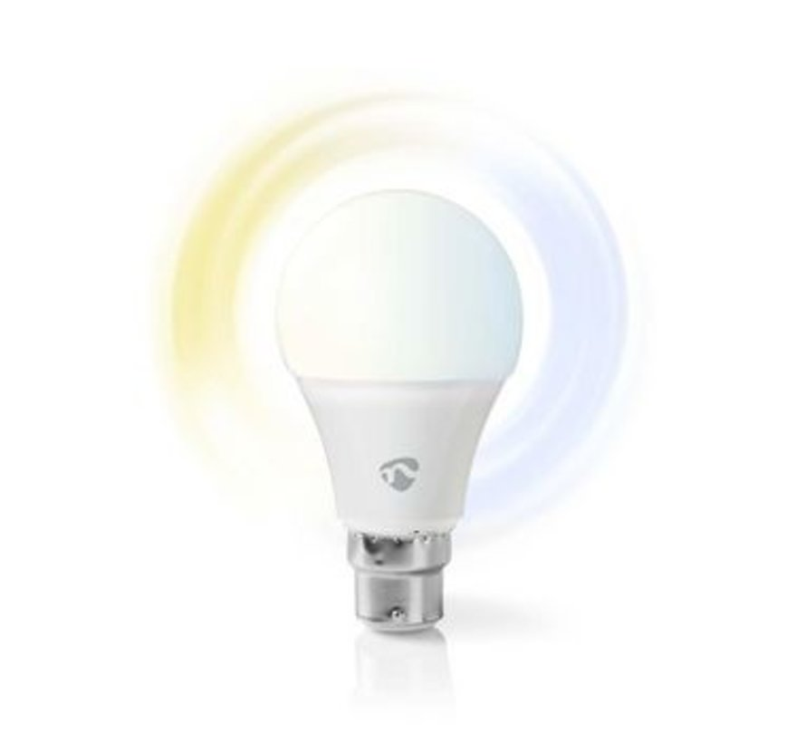 SmartLife Lamp | B22 | 800 lm | 9 W | Dimbaar Wit / Koud Wit / Warm Wit | 2700 - 6500 K | A+ | Android™ & iOS | Wi-Fi | Diameter: 60 mm | A60