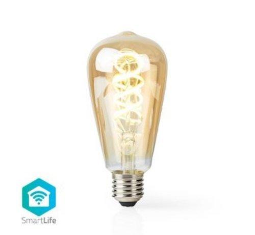 Nedis Wi-Fi Warm tot Koel Wit LED Filamentlamp| Gedraaid | E27 | ST64 | 5,5 W | 350 lm