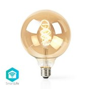 Nedis Wi-Fi Warm tot Koel Wit LED Filamentlamp| Gedraaid | E27 | G125 | 5,5 W | 350 lm