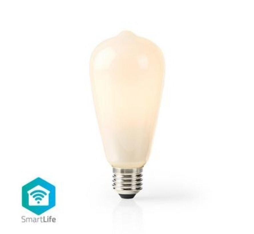 Wi-Fi Smart LED-Lamp | E27 | ST64 | 5 W | 500 lm | Wit