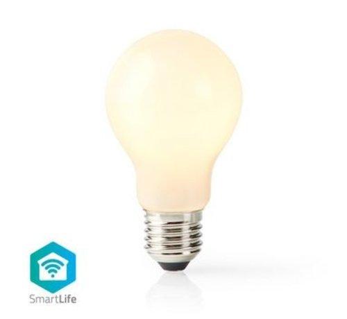 Nedis SmartLife Dimbare Filamentlamp | E27 | 500 lm | 5 W | Dimbaar Wit / Warm Wit | 2700 K | Glas | Energieklasse: A+ | Android™ & iOS | Wi-Fi | Diameter: 60 mm | A60