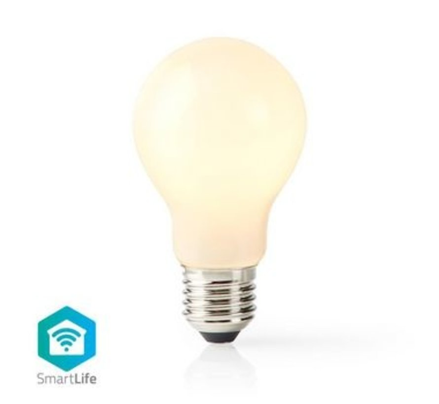 SmartLife Dimbare Filamentlamp | E27 | 500 lm | 5 W | Dimbaar Wit / Warm Wit | 2700 K | Glas | Energieklasse: A+ | Android™ & iOS | Wi-Fi | Diameter: 60 mm | A60