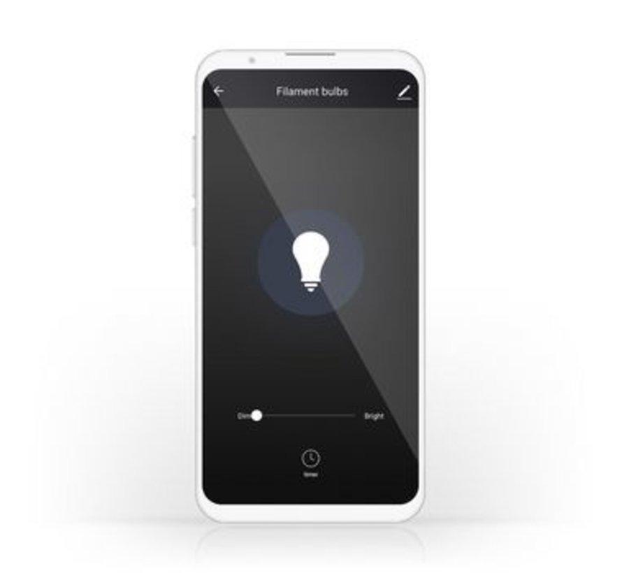 SmartLife Dimbare Filamentlamp   E27   500 lm   5 W   Dimbaar Wit / Warm Wit   2700 K   Glas   Energieklasse: A+   Android™ & iOS   Wi-Fi   Diameter: 64 mm   ST64