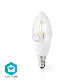 Nedis Wi-Fi Smart LED-Lamp | E14 | C37 | 5 W | 400 lm | Wit