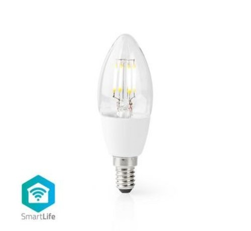 Nedis Wi-Fi Smart LED-Lamp   E14   C37   5 W   400 lm   Wit