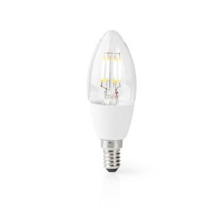 Wi-Fi Smart LED-Lamp   E14   C37   5 W   400 lm   Wit