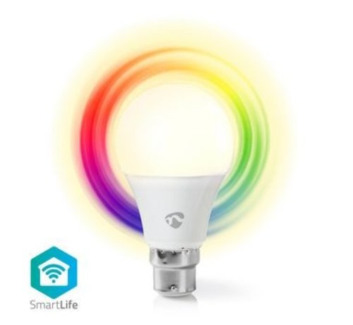Nedis Wi-Fi smart LED-lamp | Full-Colour en Warm-Wit | B22