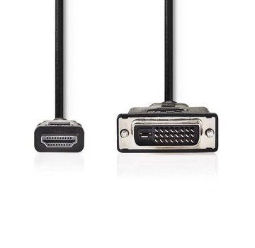 Nedis HDMI™ - DVI-Kabel | HDMI™-Connector | DVI 24+1-Pins Male | 3,0 m | Zwart
