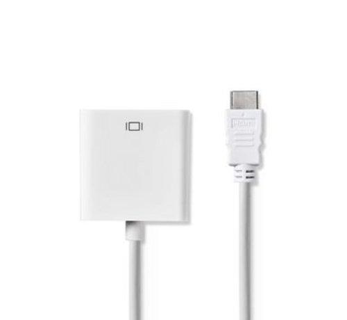 Nedis HDMI™ - VGA-kabel   HDMI™-connector - VGA female + 3,5 mm uitgang   0,2 m   Wit