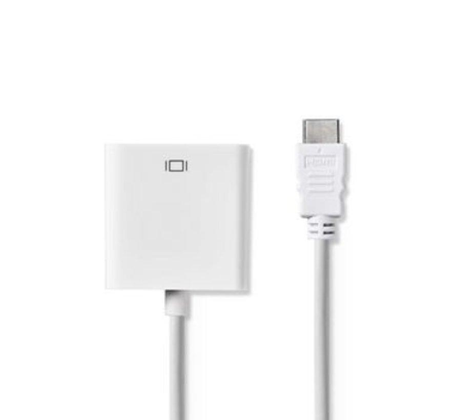 HDMI™ - VGA-kabel   HDMI™-connector - VGA female + 3,5 mm uitgang   0,2 m   Wit