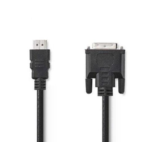 Nedis HDMI™ - DVI-kabel | HDMI™-connector - DVI-D 24+1-pins male | 3,0 m | Zwart