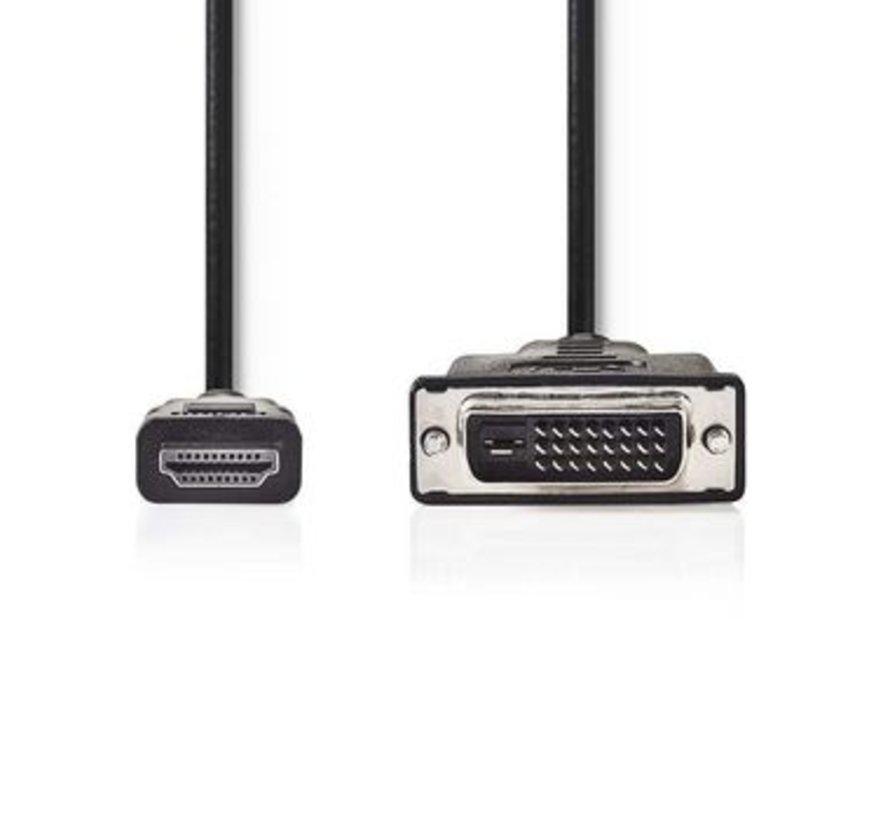 HDMI™ - DVI-kabel | HDMI™-connector - DVI-D 24+1-pins male | 3,0 m | Zwart