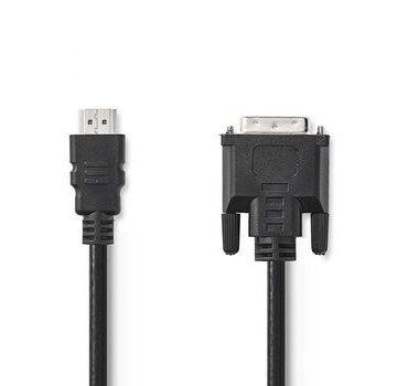 Nedis HDMI™ - DVI-kabel | HDMI™-connector - DVI-D 24+1-pins male | 2,0 m | Zwart