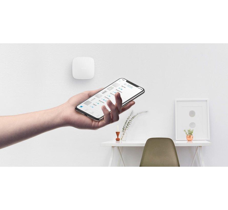 Ajax Hub 2 Plus   Zwart   2x GSM, Wifi en LAN