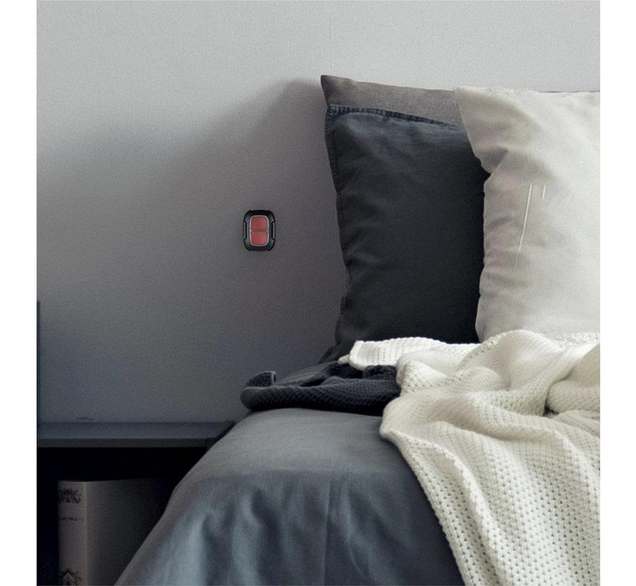 Dubbele Alarmknop / slimme knop | Zwart | Draadloos
