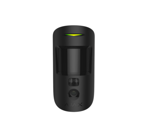 Ajax MotionCam | Zwart | Bewegingsdetector met een fotocamera