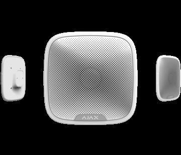 Ajax StreetSiren | Wit | Draadloze buitensirene met LED