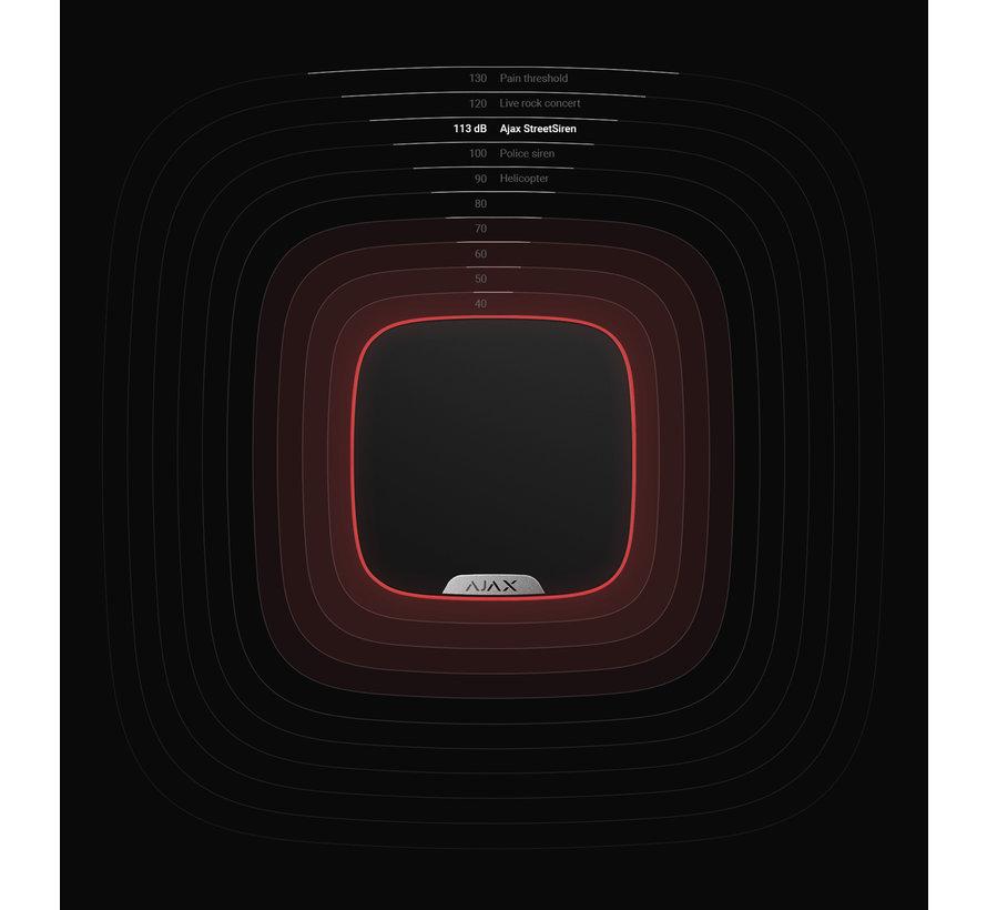 StreetSiren DoubleDeck | Zwart | Draadloze buitensirene voor Brandplate