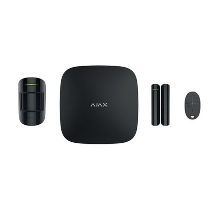 Hubkit   Zwart   GSM/LAN hub   PIR   Deurcontact   Afstandsbediening