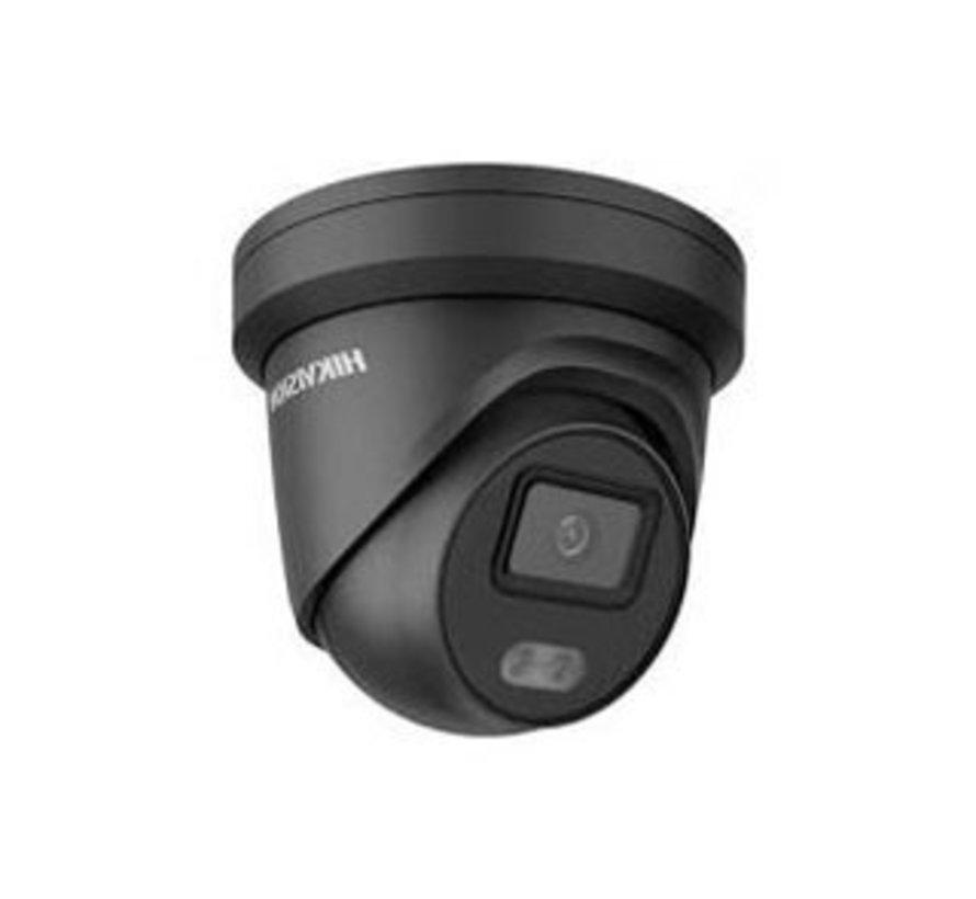 DS-2CD2347G2-LU ColorVu 2.0 | 4MP | 4MM | Zwart | ingebouwde microfoon | 130dB | WDR | Turret Dome