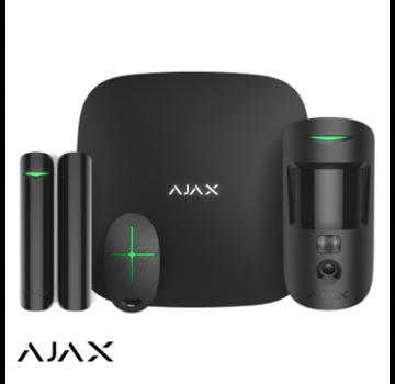 Ajax Ajax StarterKit Cam zwart | Hub 2 | MotionCam | DoorProtect | SpaceControl